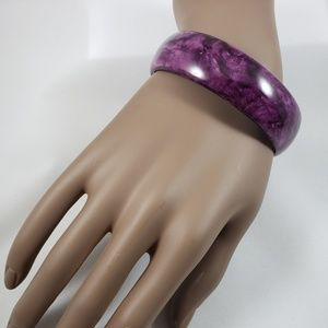 Jewelry - Purple Bangle Acrylic Bracelet